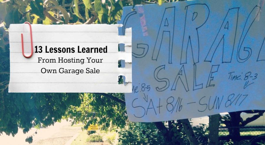Garage Sale Lessons